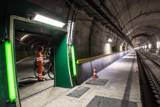 Tunnel Abschnitt Sedrun
