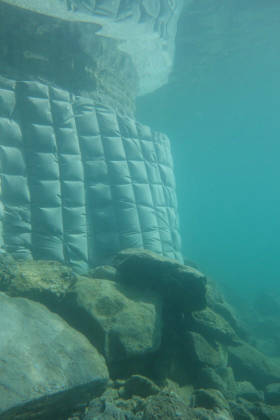 Ufermauer nach Sanierung