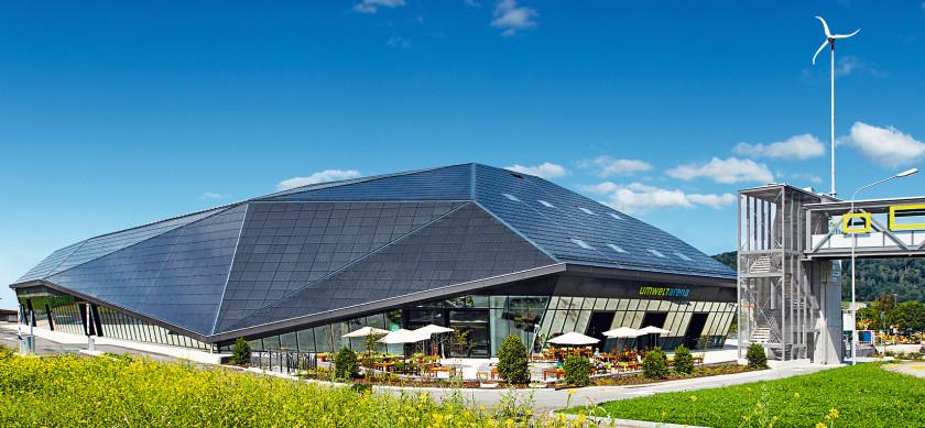 Die Umwelt Arena in Spreitenbach mit vielen interessanten Ausstellungen, aufgenommen im August 2012. (UMWELTARENA/Alessandro Della Bella)