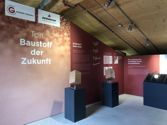 Neue Dauerausstellung Ton - Baustoff der Zukunft in der Umwelt Arena