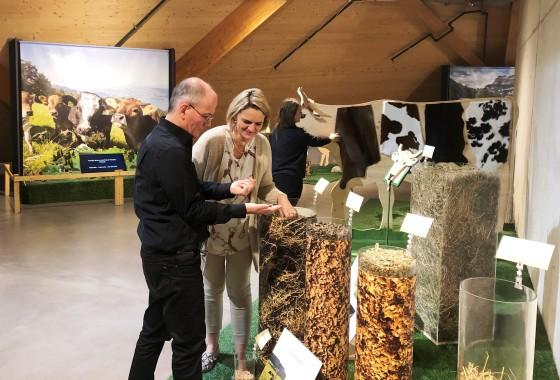 Wechselausstellung VOM GRAS ZUR MILCH in der Umwelt Arena, bis 29.3.2020