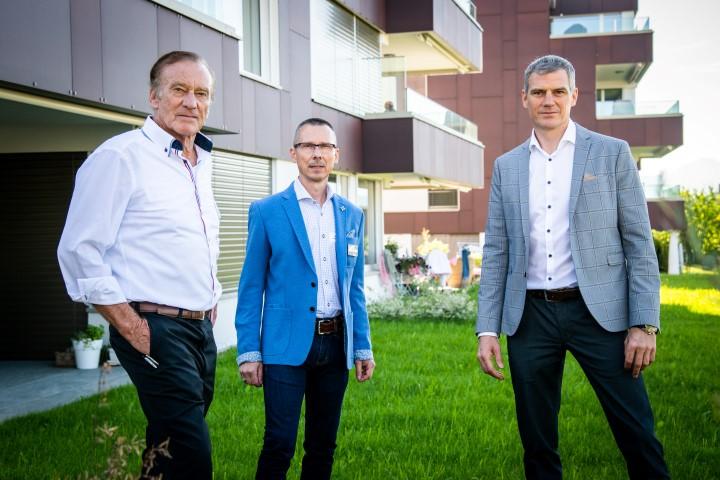 v.l.n.r. Walter Schmid, Stiftungsratspräs. UWA; Robert Grill, GF Umwelt Arena, René Schmid, Arch. (Small)