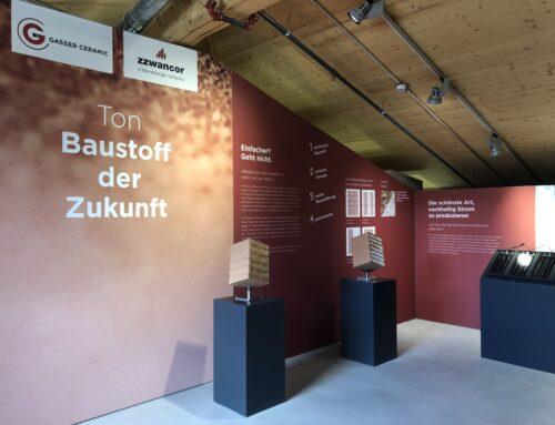 """Neue Ausstellung """"Ton – Baustoff der Zukunft"""" in der Umwelt Arena Schweiz"""